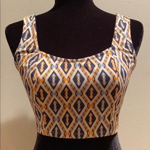 Crop Top with stretch Back
